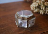 六角形 フランスアンティーク オルモル ガラスのジュエリーボックス