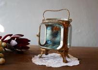 フランスアンティーク ガラスのジュエリーボックス 懐中時計