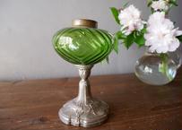 フランスアンティーク オイルランプ リボンの装飾