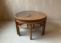 NATHAN ネイサン ガラストップ ネストテーブル