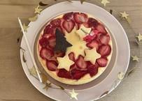 いちごとホワイトチョコレートのチーズケーキ