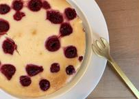 ラズベリーとホワイトチョコレートのチーズケーキ