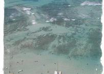 Waikiki Beach Birdseye #1  マット入(小)