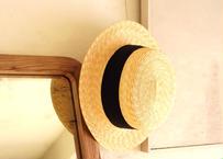wica grocery : straw hat  / スタンダードカンカン(Ribon : BK)