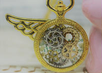 [ライフレビュー] ミニ懐中時計*イエローゴールド(FLOWER)
