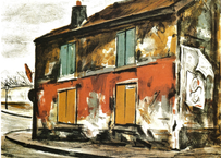 荻須 高徳 パリの散策 赤い家