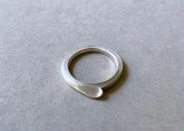 【Pt900】さじ : Ring (Large/右向き)