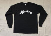 Attractions Logo L/S Tee(Body:Black, Print:White)