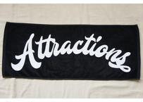 Attractions Logo Towel(Base:Black)