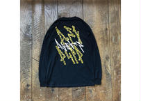 """Attractions """"POST PULP"""" L/S Tee(Body:Black)"""