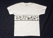 Attractions Merry-Go-Round S/S Tee(Body:White Print:Black)