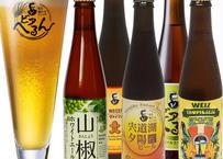 【松江ビアへるん】5本セット+ロゴ入りピルスナーグラスセット