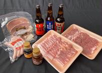 【あうたび限定】まる姫ポーク焼き肉&石見麦酒クラフトビールセット