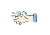 感染予防対策イラスト…「手洗い」