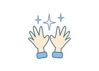 感染予防対策イラスト…「キレイな手」
