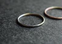 銀と真鍮の指輪