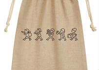 Lenのシンプル巾着袋(ステッカー付)