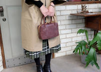 Square Tote Bag【  Tasogale 】-S size-|Dark Brown
