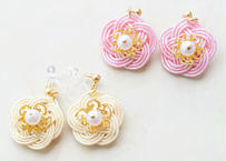 金沢水引の和花な耳飾り Mizuhiki Japanese Flower Earrings