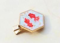 純金箔と金魚のヘアクリップ
