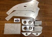 Flo's AE86  フロントシャシー強化プレート&エンジンルームボディ穴埋めプレートセット