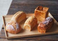 【嵐山庭園】ラッキー食パンセット(食パン5種の詰め合わせ)