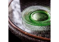 "U.S.A.Vintage ""HOCKING GLASS"" Spiral Green Plate(1928-30)"