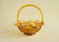 【Vintage】 Fenton Glass Basket