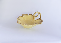 【Vintage】 Leaf Candy Dish With Gold Trim
