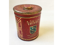 """【Vintage】""""VELVET"""" Pipe and Cigarette Tobacco Tin Can"""