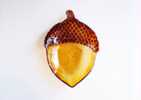 Vintage Acorn Glass Dish  from U.S.A.