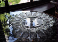 U.S.A.Vintage ''INDIANA GLASS'' Hobnail Egg Relish Plate(Clear)