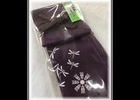 竹刀袋型ペンケース トンボ柄紫 日本製 送料¥200