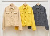 stripe denim jacket