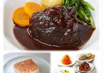 ヌガ人気メニューのスペシャルコース・メイン牛ほほ肉の赤ワイン煮込み お二人様用 全6品