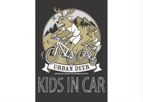 URBAN DEER KIDS IN CAR マグネットステッカー