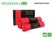 公式ステッカー付 スパシャン カラーベロア 赤 マイクロベロア 赤ベロア レッドベロア 究極の柔らかさ と 抜群の吸水力 SPASHAN