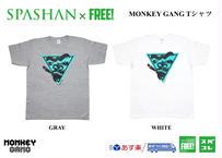 公式ステッカー付 モンキーギャング Tシャツ C スパシャン M L XL XXL  洗車 SPASHAN  MONKEY GANG