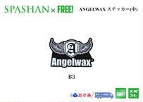 ANGELWAX ステッカー (中) B3  ホワイト×ブラック  スパシャン 洗車 SPASHAN エンジェルワックス