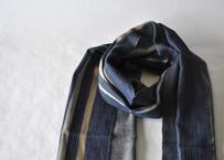 綾織りストール 茶薄