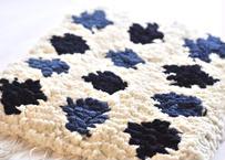 結び織りノッティング(紺藍)