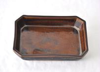 飴釉長角鉢
