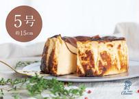 バスクチーズケーキ  5号サイズ(Basque Cheesecake)