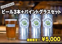 ◆家飲み支援企画第2弾!◆ビール&パイントグラスセット