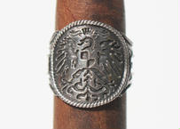 """Cigar label"" Silver ring / Sol"
