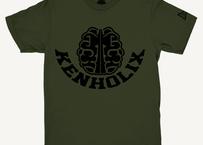 KENHOLIX  Brain Logo Tee -Khaki-