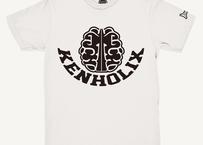 KENHOLIX  Brain Logo Tee -White-