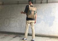 【荷物が多くても少なくても格好がつく!】DDリュックサック -ベージュ/ブルー