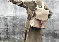 【6年間の集大成リュック!】ウィリアムソンリュックサック  -ベージュ/クラレット-