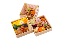 【MR様向け】五目ちらし寿司と彩り9升の三段弁当【ペット茶付き】